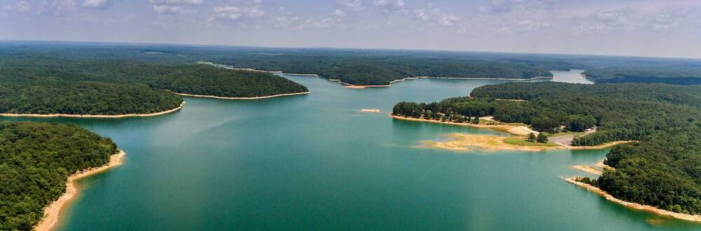 Aerial view of Russellville Lake
